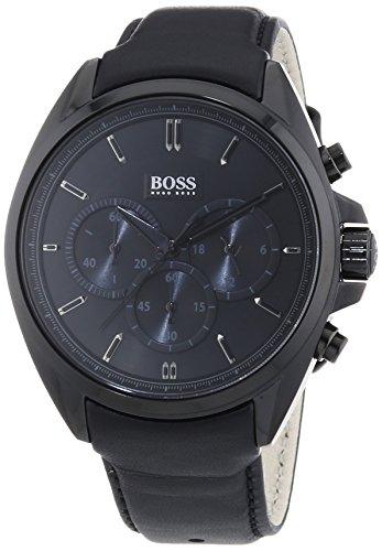 how to buy huge inventory best sneakers Hugo Boss Herren-Armbanduhr XL Driver Chronograph Quarz Leder 1513061